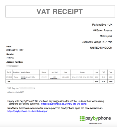 parking history and receipts paybyphone support uk